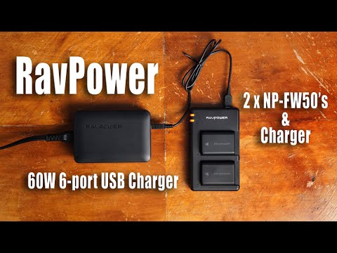 Sony NP-FW50 Battery Alternative And 6-Port USB Charger Review - RavPower...