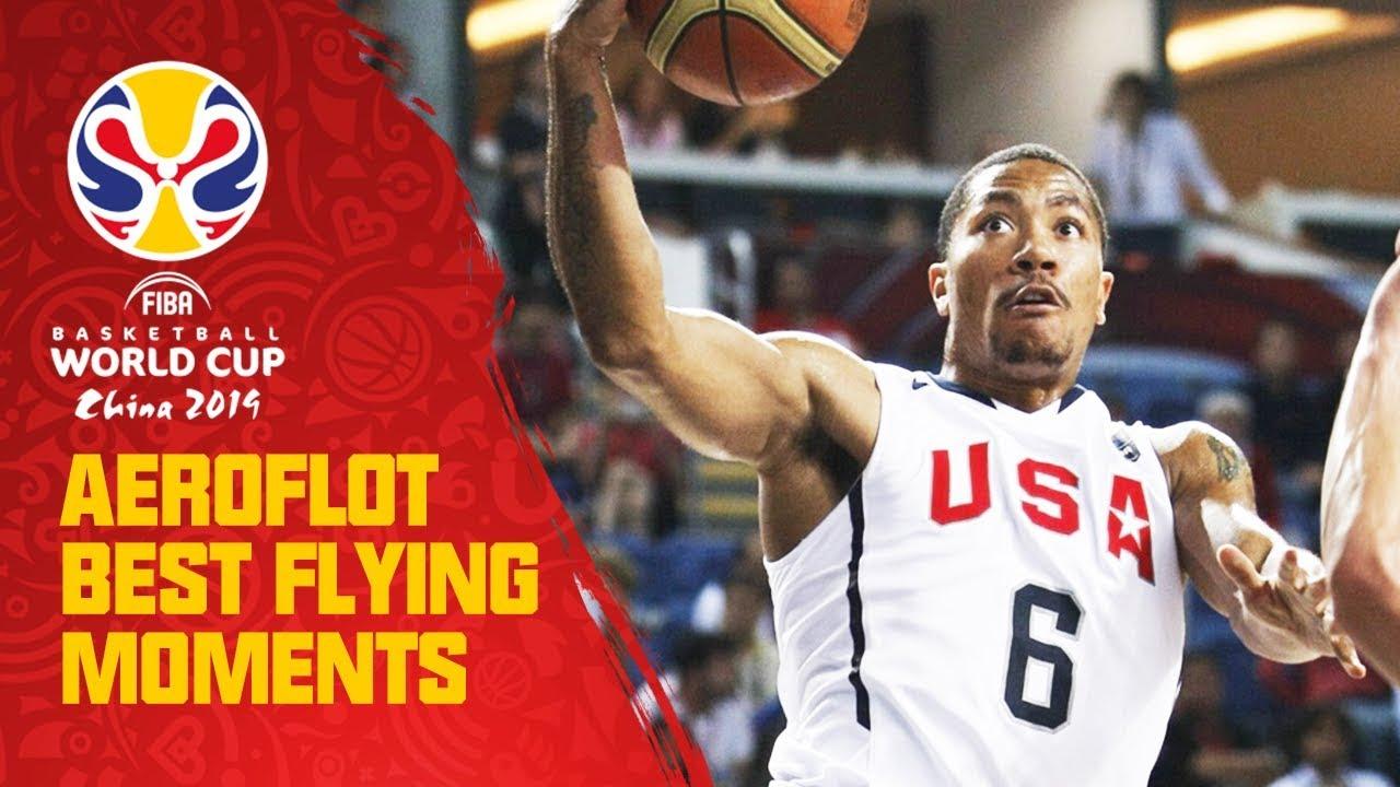 Prime Derrick Rose takes off! - Aeroflot Best Flying Moments - FIBA Basketball World Cup 2010