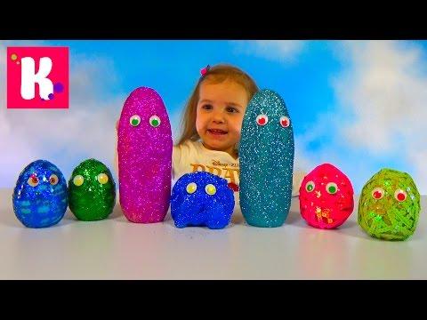 Смешные заводные животные / Яйца с глазками и блёстками / Обзор игрушек - Ржачные видео приколы