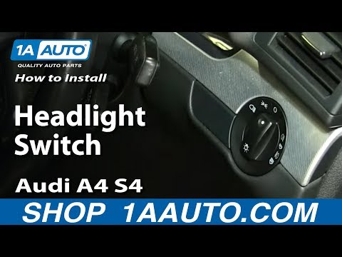 How To Install Headlight Switch 07-09 Audi A4