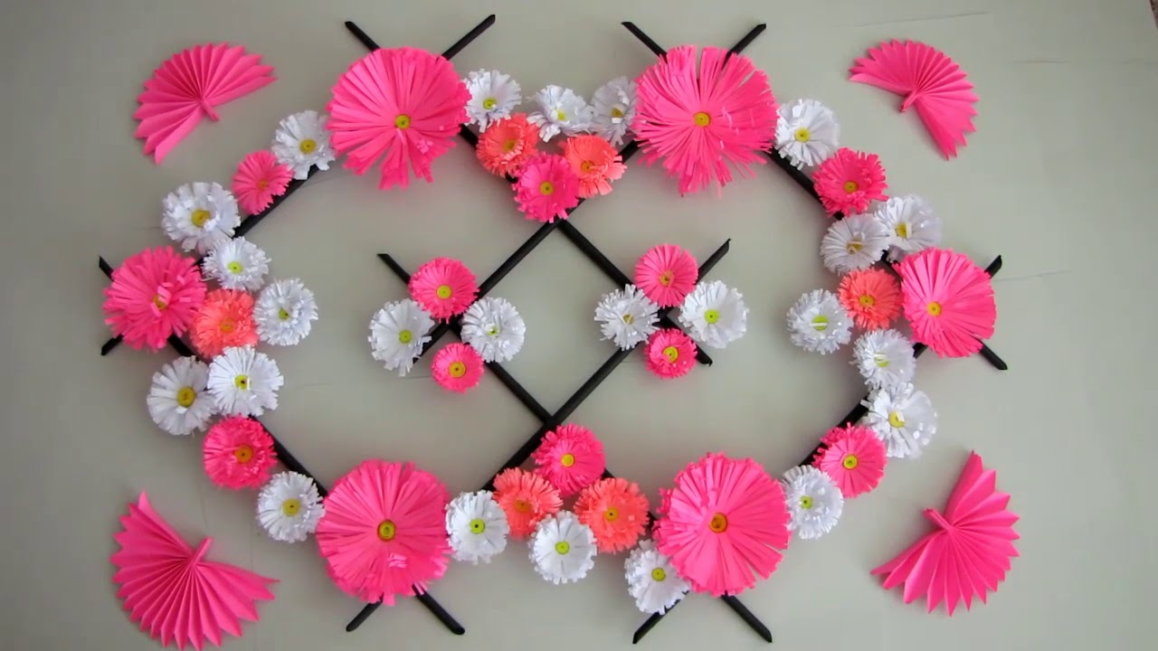Diy Paper Flower Wall Hanging Wall Decoration Ideas Diy Hanging Flower 2019