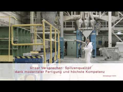 SCHNEEBERGER overview mineral casting German