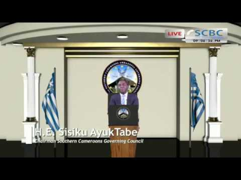 H.E. Sisiku  Ayuk Tabe first address to Ambazonians 30/07/2017