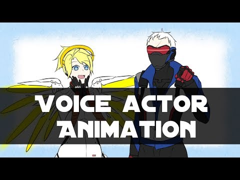 【Overwatch 動畫】Soldier 76 and Mercy 聲優小互動(Voice actor animation)