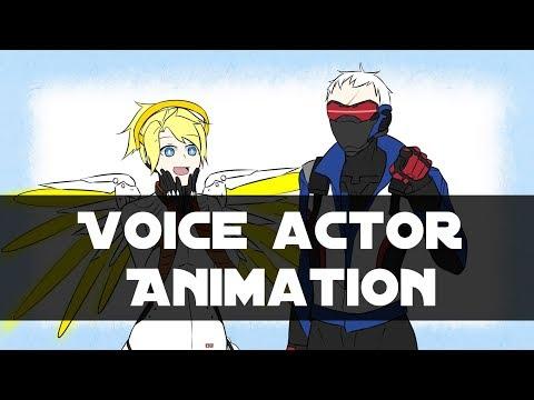 【Overwatch 動畫】Soldier 76 and Mercy 聲優小互動(Voice actor animation)
