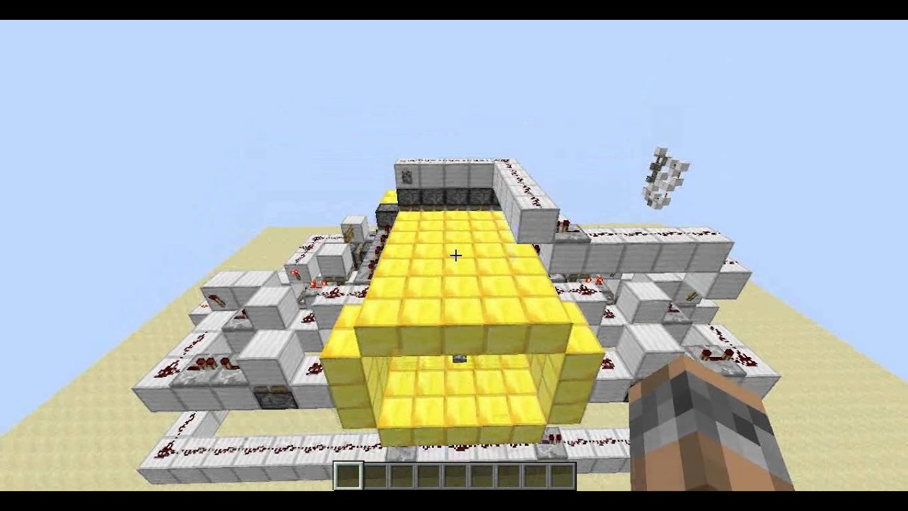 [Redstone] Minecraft 3x5 Piston Door