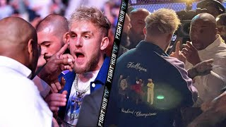 DANIEL CORMIER RUNS UP ON JAKE PAUL! BOTH GET IN HEATED CONFRONTATION AT UFC 261