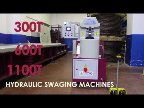 HYDRAULIC SWAGING MACHINE WIRE SLING