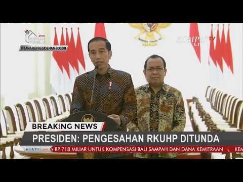 BREAKING NEWS - Presiden Jokowi Bicara RKUHP