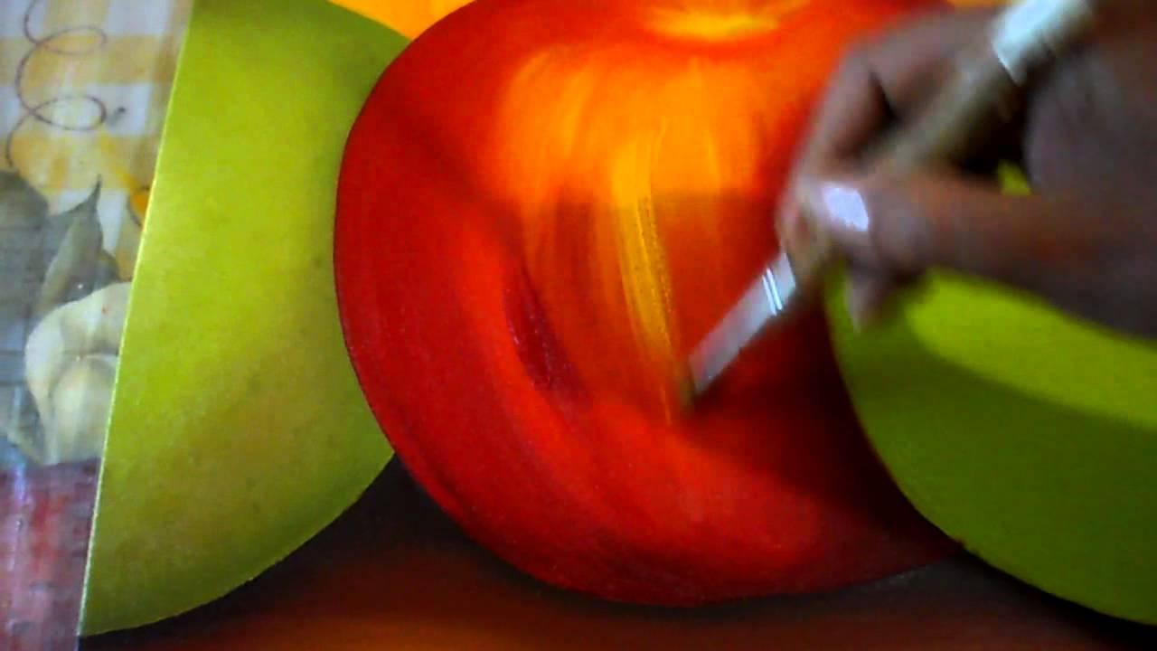 pintando triptico frutas luz a la manzana  YouTube