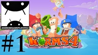 Worms 4 Android GamePlay #1 (1080p) (By Team 17 Digital Limited) [Game For Kids]