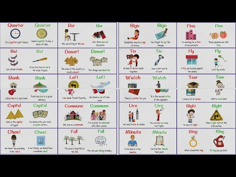 HOMOGRAPHS - Confusing Words with Same Spelling but Different Meaning/Pronunciation