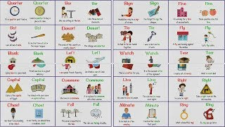 HOMOGRAPHS - Confusing Words with Same Spelling but Different Meaning | List & Examples
