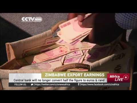 Zimbabwe Central Bank won't convert half of export earnings to euros & rand