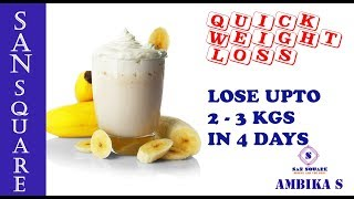 How to lose weight fast in Tamil   Banana Milk Diet   4 நாட்களில் 3 கிலோ எடை குறைக்கும் எளிய டயட்!