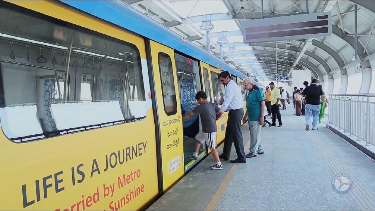 Hyderabad Metro Inside & Outside tour, Hyderabad Metro new Rail system latest