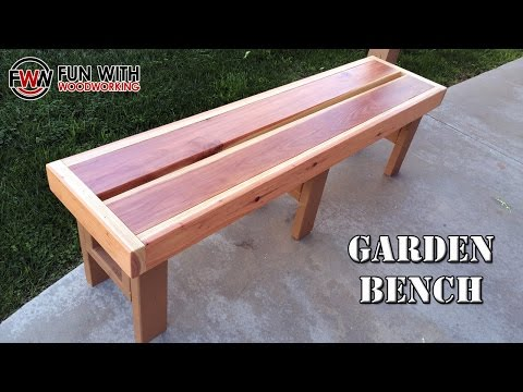 Project – How to build a quick and easy garden bench out of redwood 2×6's and 2×4's