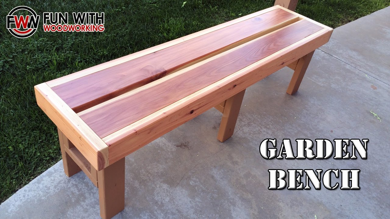 ... quick and easy garden bench out of redwood 2x6's and 2x4's - YouTube