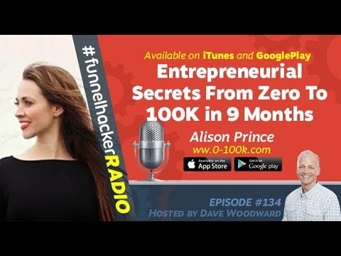 Alison Prince, Entrepreneurial Secrets From Zero To 100K in 9 Months