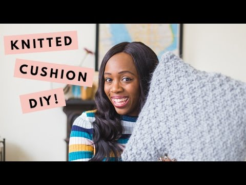 DIY | Simple Knitted Cushion Cover Tutorial | Kristabel