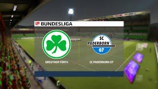 Greuther fürth vs paderborn | 2. bundesliga (15/01/2021) fifa 21