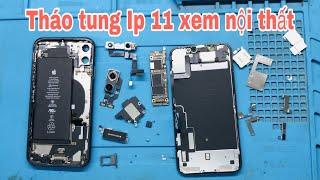 Tháo Iphone 11 khám phá nội thất. Main rất nhỏ gọn và đẹp.. Iphone 11 mainboar very beauty 👍👍👍
