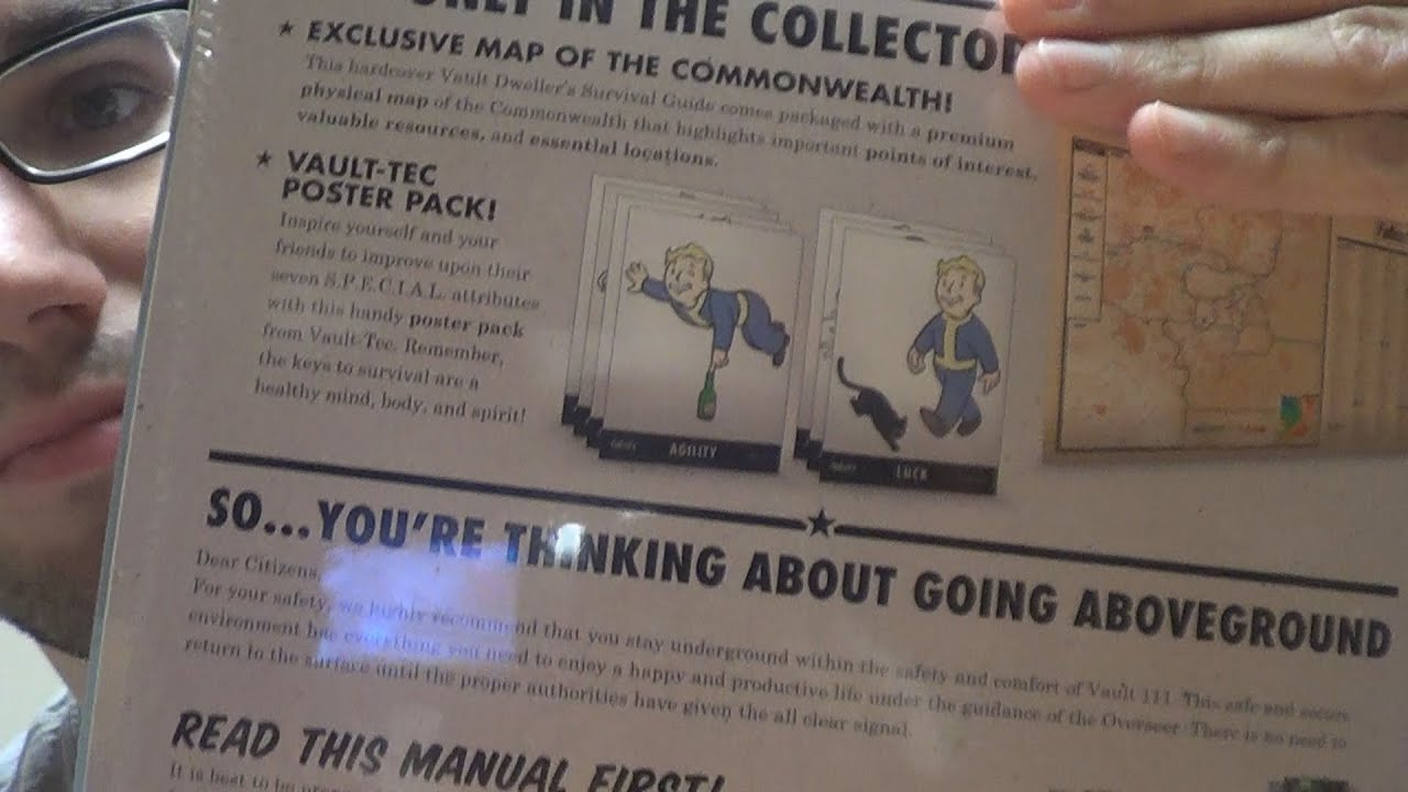 Fallout 4  Vault Dweller's Survival Guide  Collector's Edition Unboxing