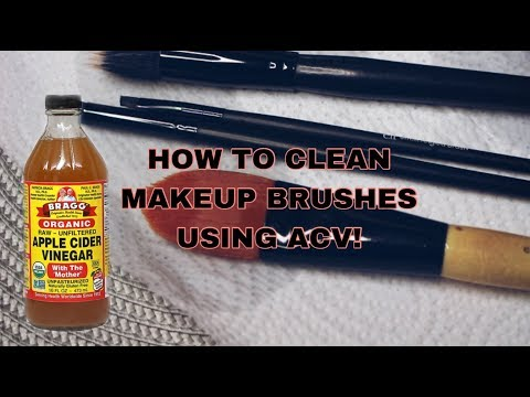 HOW TO CLEAN MAKEUP BRUSHES USING ACV | Queenie Jayta