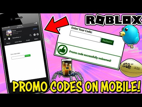 HOW TO ENTER PROMO CODES ON A MOBILE DEVICE IN ROBLOX