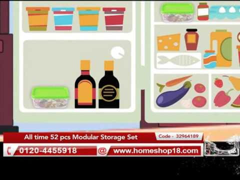 b0c509664 Kitchen Food Storage Containers - All time 52 pcs Modular Storage ...