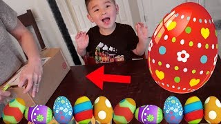 EASTER EGG HUNT FOR SURPRISE TOY! LEARNING ALPHABET ACTIVITY FOR KIDS
