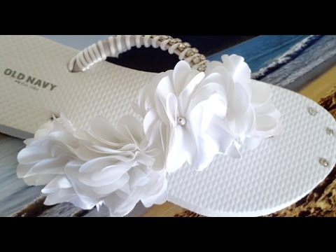 72e3f1141 DIY  Special Occasion Flip Flops - YouTube