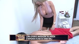 Hot video - hot girl massage prank video -Redetv new prank