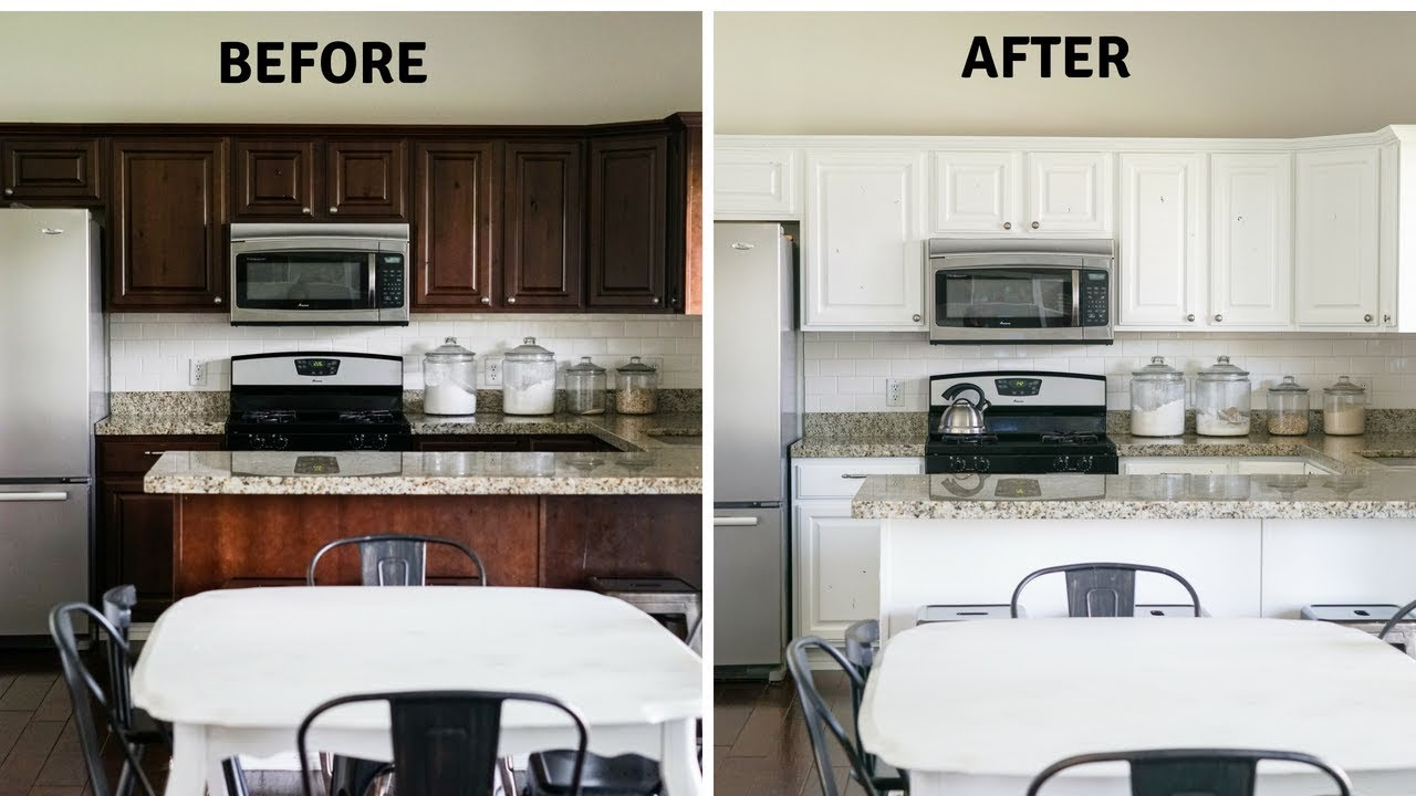 Diy Paint Your Kitchen Cabinets Like A Pro Youtube