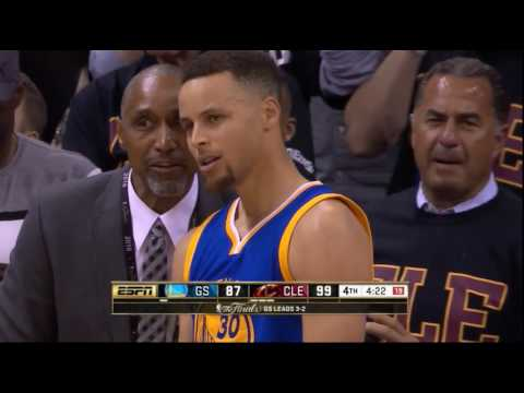 Thumbnail: Stephen Curry hits fan with mouthpiece and gets ejected for 1st time in career - NBA FINALS GAME 6