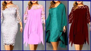 Plus size women's outfits| latest stylish dresses for plus size women