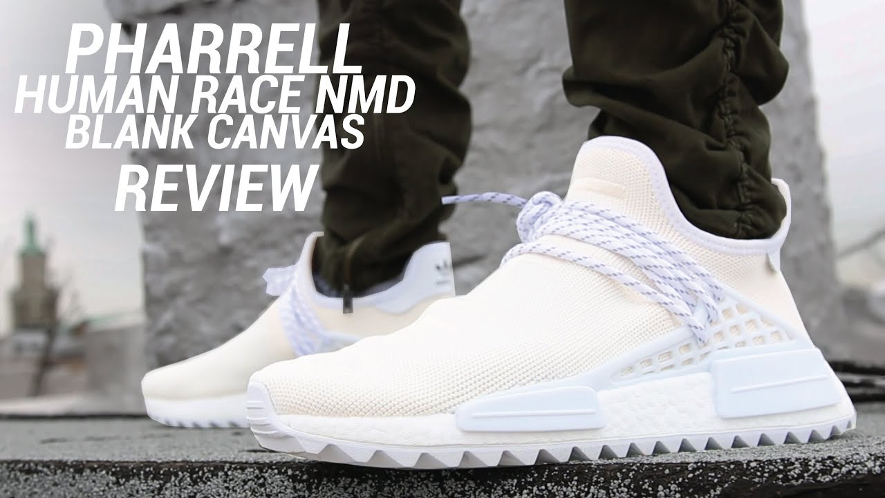huge selection of 0af23 75501 ADIDAS PHARRELL HU NMD TRAIL HOLI BLANK CANVAS REVIEW