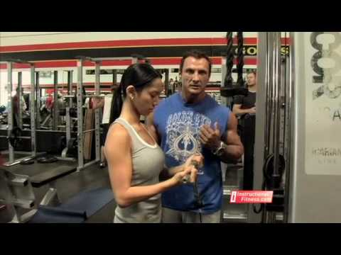 Instructional FItness Cable Curls