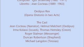 Igor Stravinsky - Oedipus Rex (Complete)