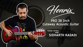 Bajaao Select Henrix PRO Cutaway Acoustic Guitar Guitar Review With Sidharth Kadadi