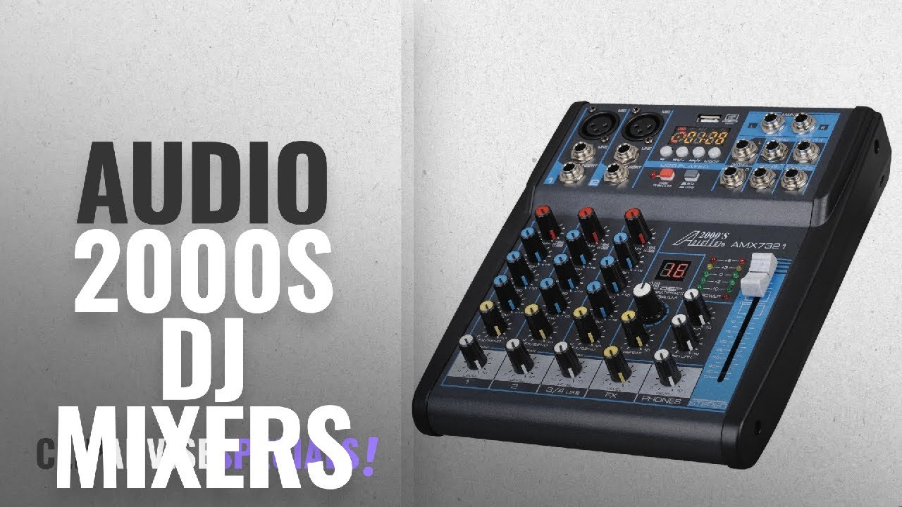 top 10 audio 2000s dj mixers 2018 audio 2000s amx7321ubt 4 channel audio mixer sound board. Black Bedroom Furniture Sets. Home Design Ideas