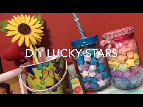 DIY LUCKY STARS - How to make paper origami stars (with no glue)