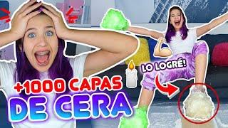 100 CAPAS DE CERA EN MIS PIES Y MANOS!! RETO EXTREMO!!  | Leyla Star 💫