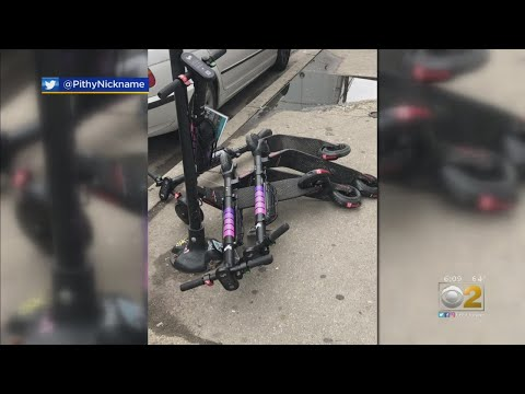 E-Scooters Hit Streets For First Week, Problems Already Evident