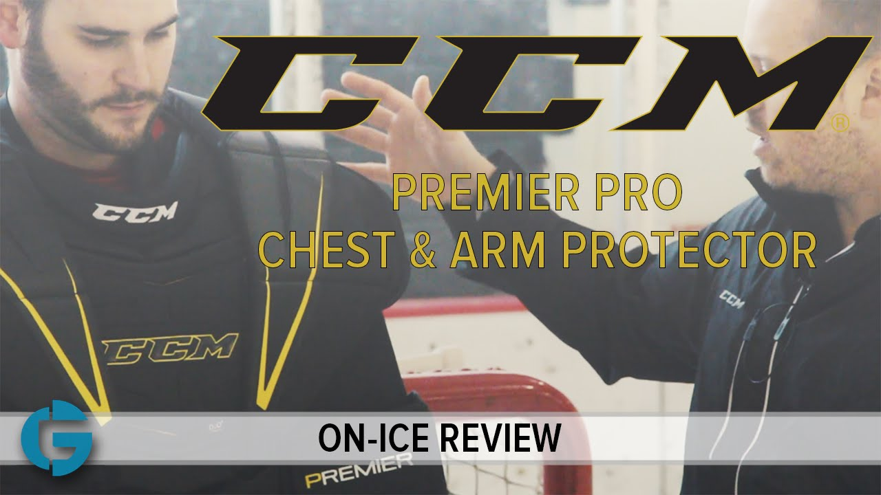 813124019b5 CCM Premier Pro Chest   Arm Protector    On-Ice Review - YouTube