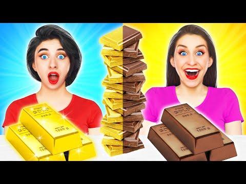 Шоколадная еда VS Настоящая еда Челлендж!