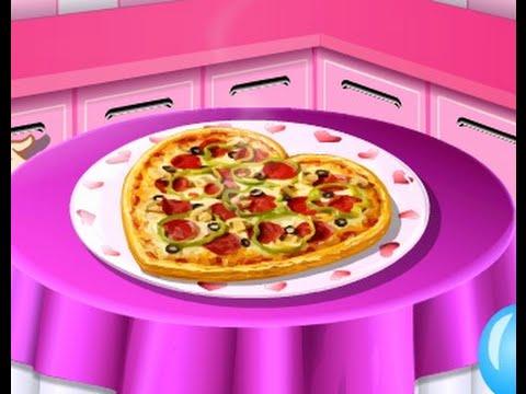 Pizza san valentin cocina con sara youtube for Cocina de navidad con sara