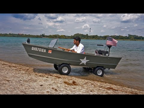 HOMEMADE Boat Car!!