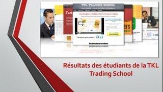 Inédit, les résultats des étudiants de TKL Trading School après une année de formation