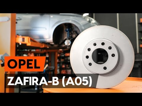 How to change front brake discs / front brake rotors on OPEL ZAFIRA-B 2 (A05) [TUTORIAL AUTODOC]